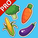 Vegetable Cards PRO (Learn English faster)