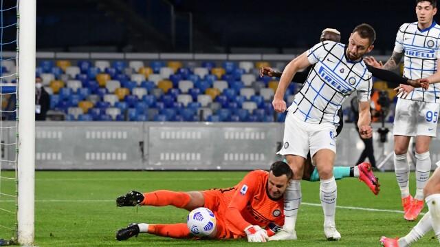 Italian League - Napoli - Inter - Score and Report - Football