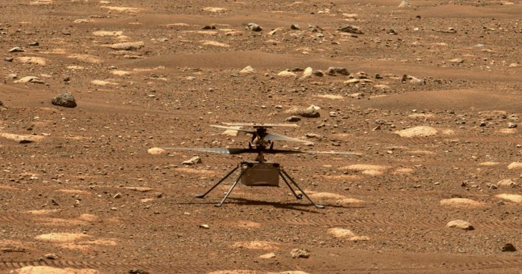 So you can follow the first helicopter flight to Mars
