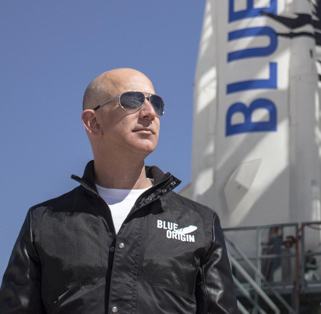 Archive - Evidence - undated recording shows Amazon founder Jeff Bezos inspecting the ramp before the first flight of his spacecraft