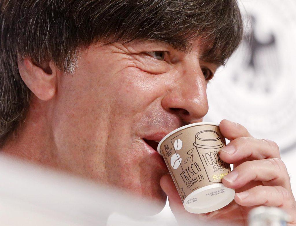 Joachim Lowe grabs toes again at Euro!  Everyone remembers the disgusting gesture of the German coach