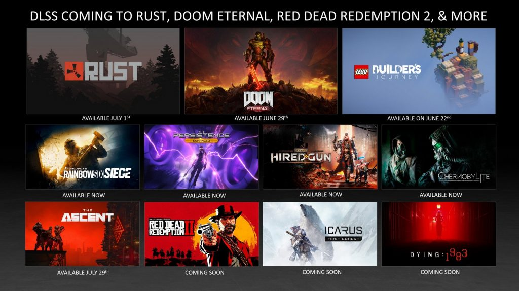 NVIDIA DLSS will debut in many new games and will come to Linux