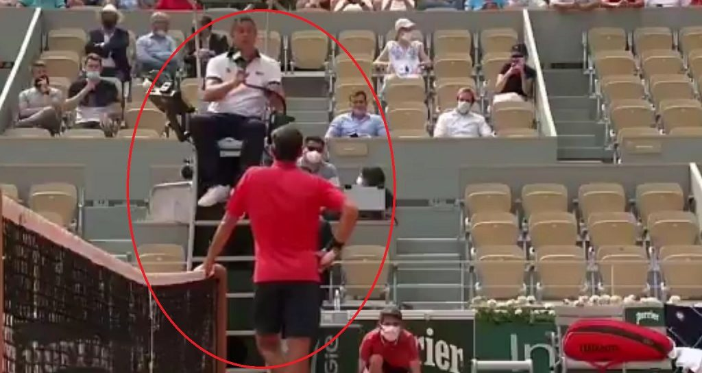 """Long fight with Federer's referee.  """"I dare not go to a piece anymore"""" Tennis"""