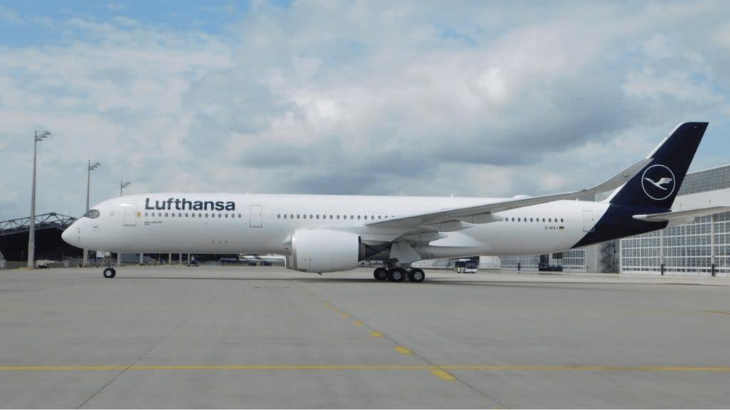 Lufthansa flies A350 from Munich to Mallorca