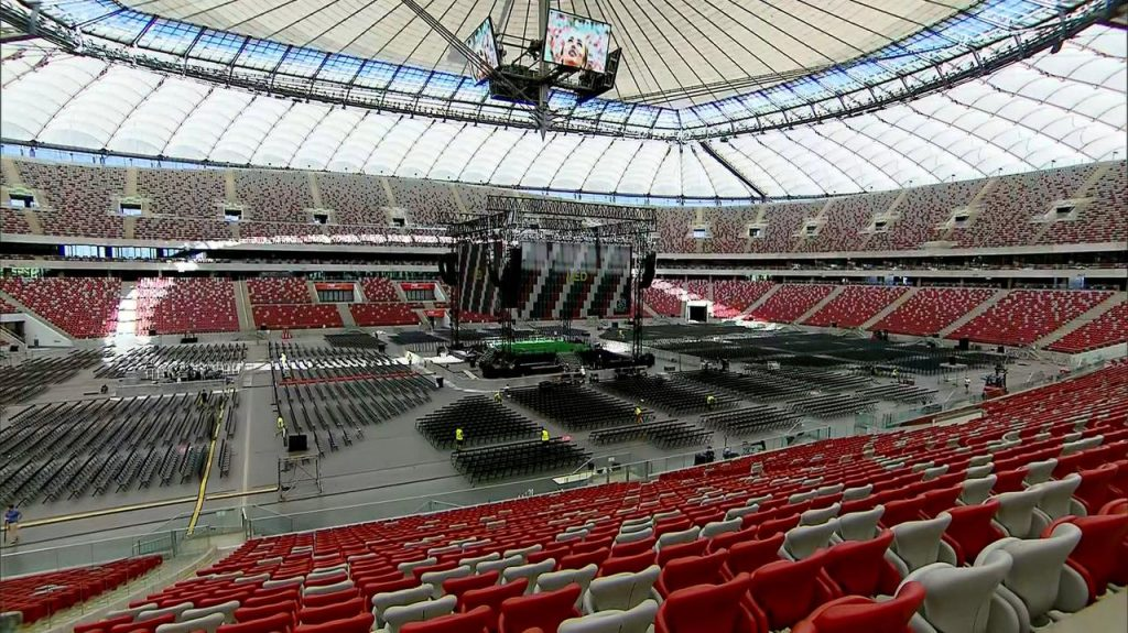 Warsaw.  The match between Poland and Spain.  Fan zone at the National Stadium.  Tickets, opening hours, rules
