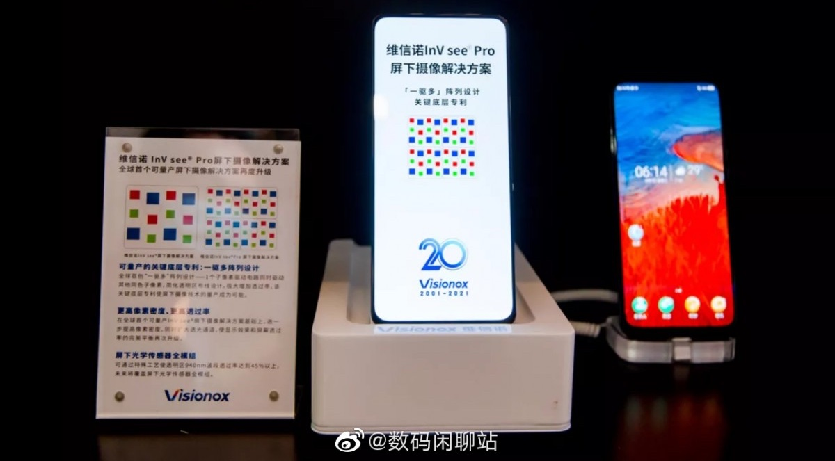Visionox InV see Pro - a screen that will go to the ZTE Axon 30 5G