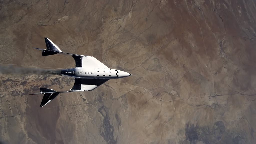 Virgin Galactic's VSS Unity spacecraft on flight in May 2021