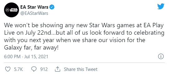 New Star Wars game in just a year;  We know the next details