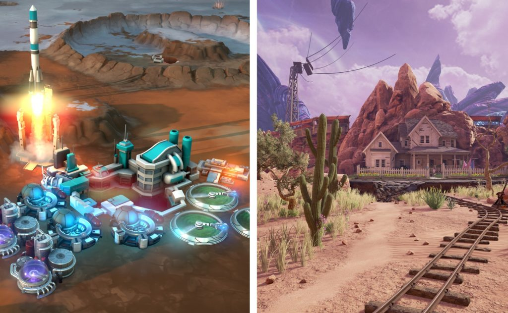 Obduction and Offworld Trading Company for free on the Epic Games Store