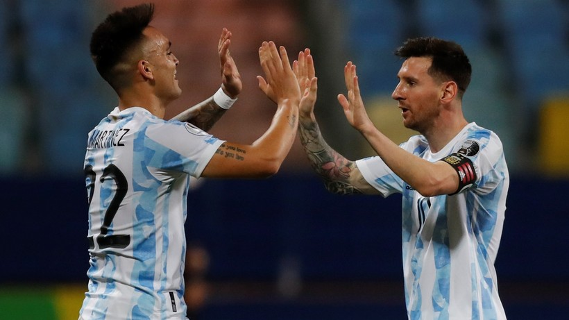 Copa America: Argentina - Colombia.  Direct protection and results