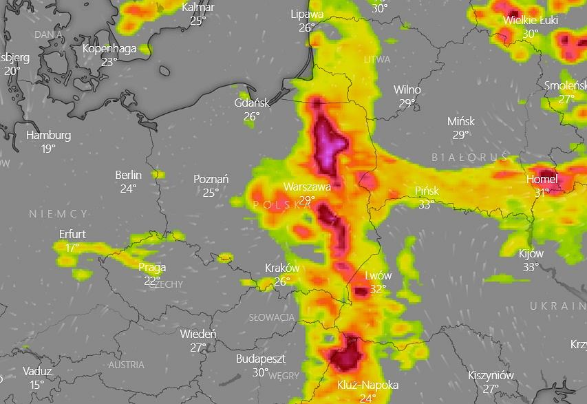 Where is the storm?  Current IMWM warnings are concerned about heat and flooding across the country [RADAR BURZ]