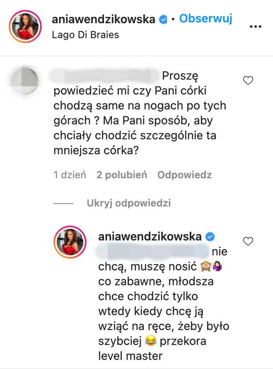 Anna Ventsikovska responds to the Internet user