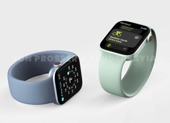 Apple Watch Series 7 Render Farben