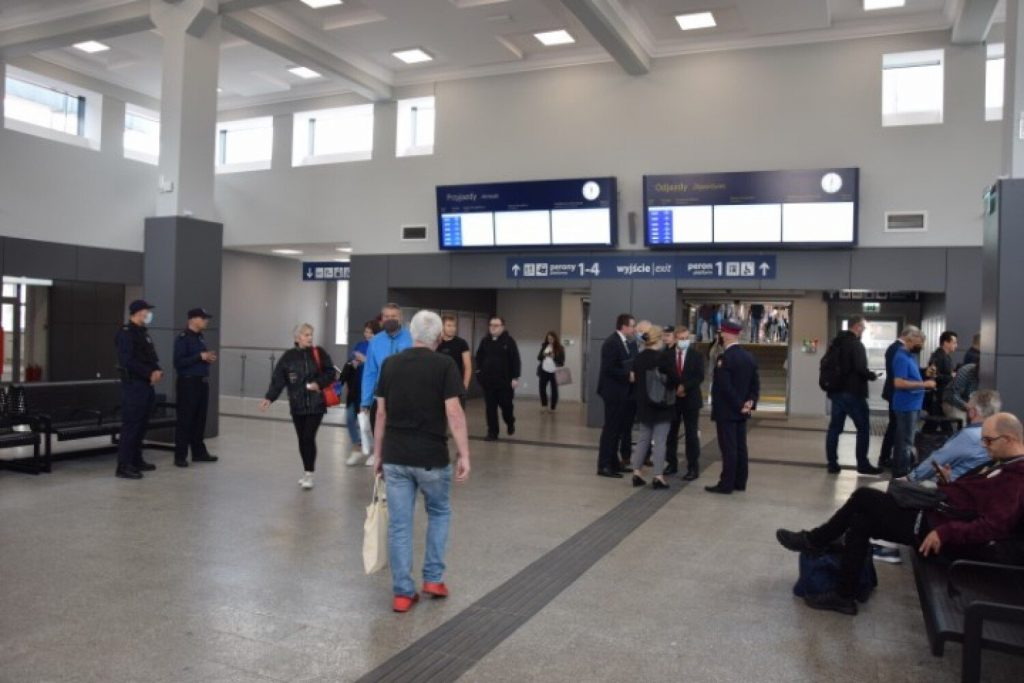 Railway station in Tczew after photo renovation