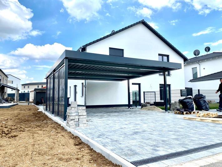 Addition garage to concrete garage, wall garage in Munich