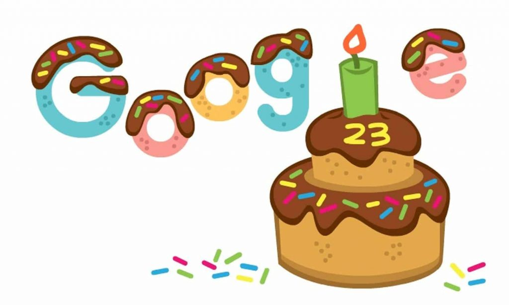 23 Years of Google: A Google Doodle to Celebrate the Company's 23rd Birthday - That's How It All Began and Lots of Information