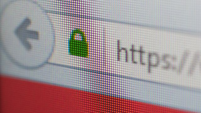 The browser must be able to pay attention to the encryption
