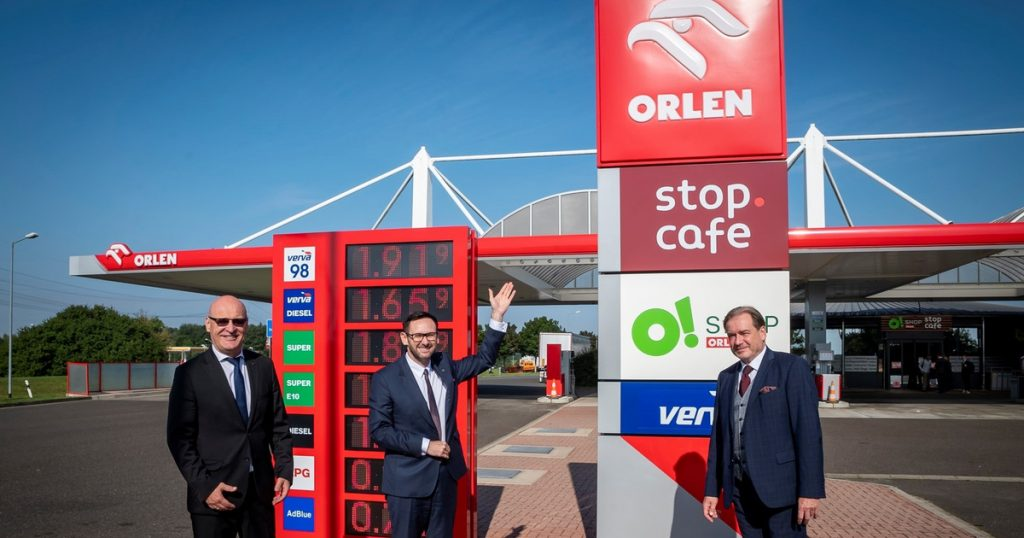 Orlean stations in Germany.  Orlen is proud to open Station 6 and plans more