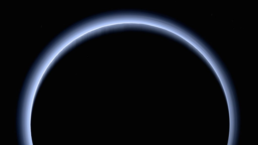 Pluto loses its atmosphere.  But in 124 years it will produce a new one