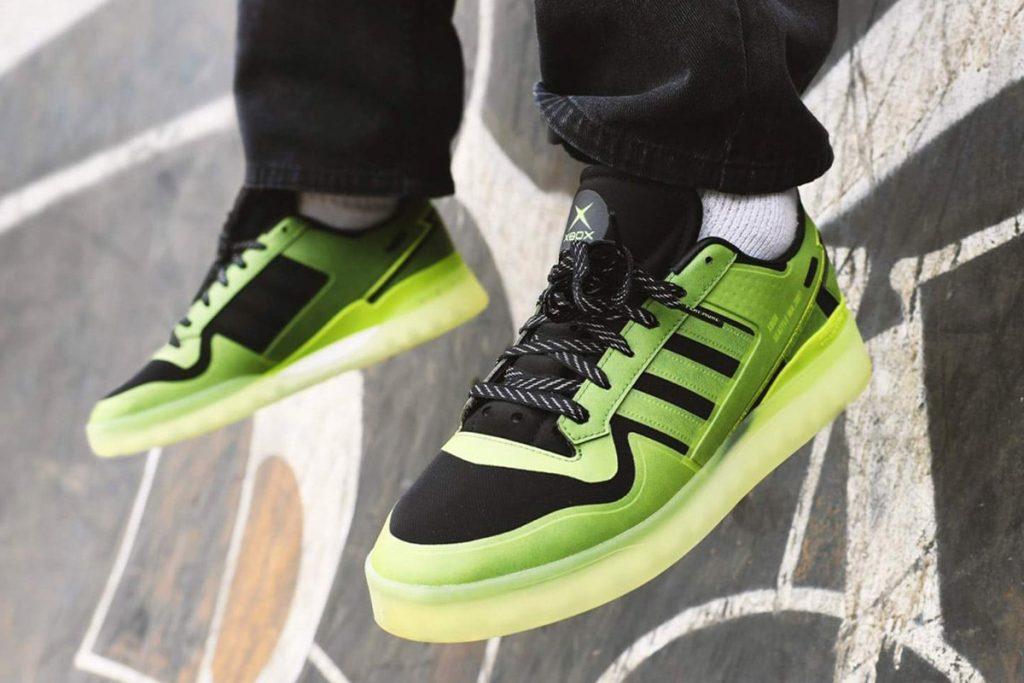 xbox x Adidas forum tech boost halo