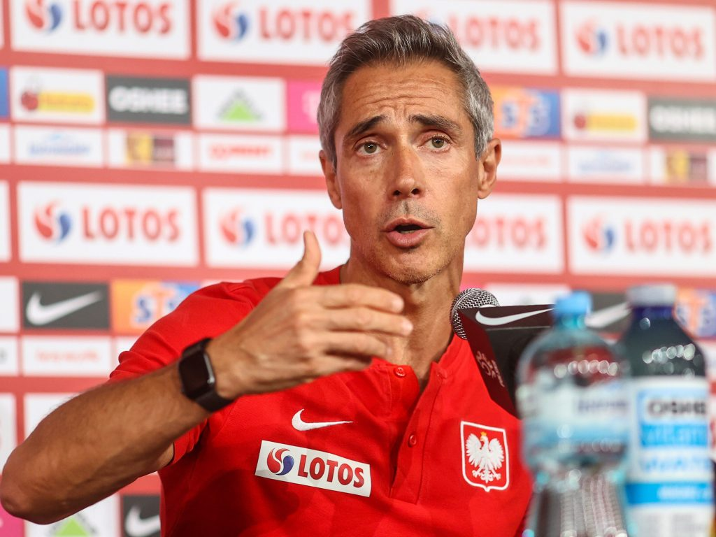 Paulo Sousa's press conference.  A team of the Polish national team before the matches against San Marino and Albania